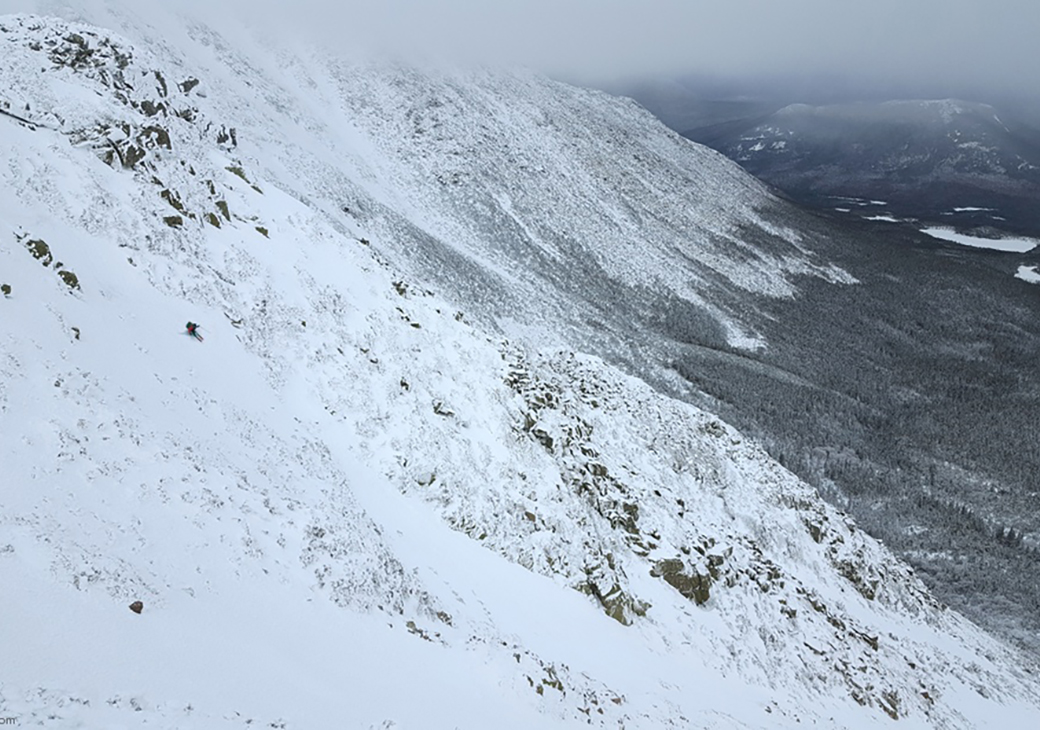 Ski Backpacking Mount Katahdin, Maine.