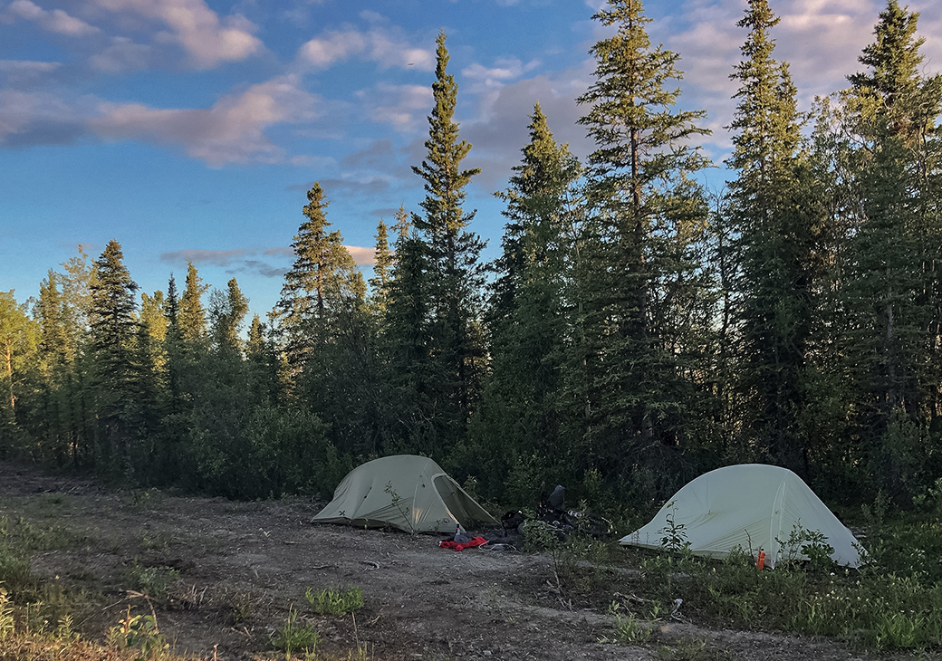 "Choose your camp site carefully while in Alaska. As they say, ""location, location, location."""