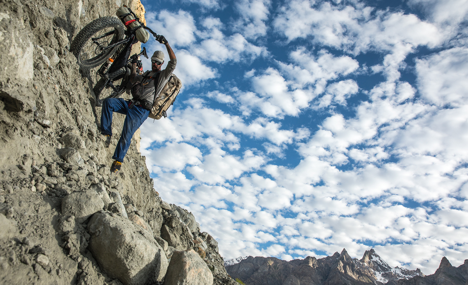 Steve Fassbinder, Biafo Glacier, Latok Traverse, Karakoram Mountains, Pakistan