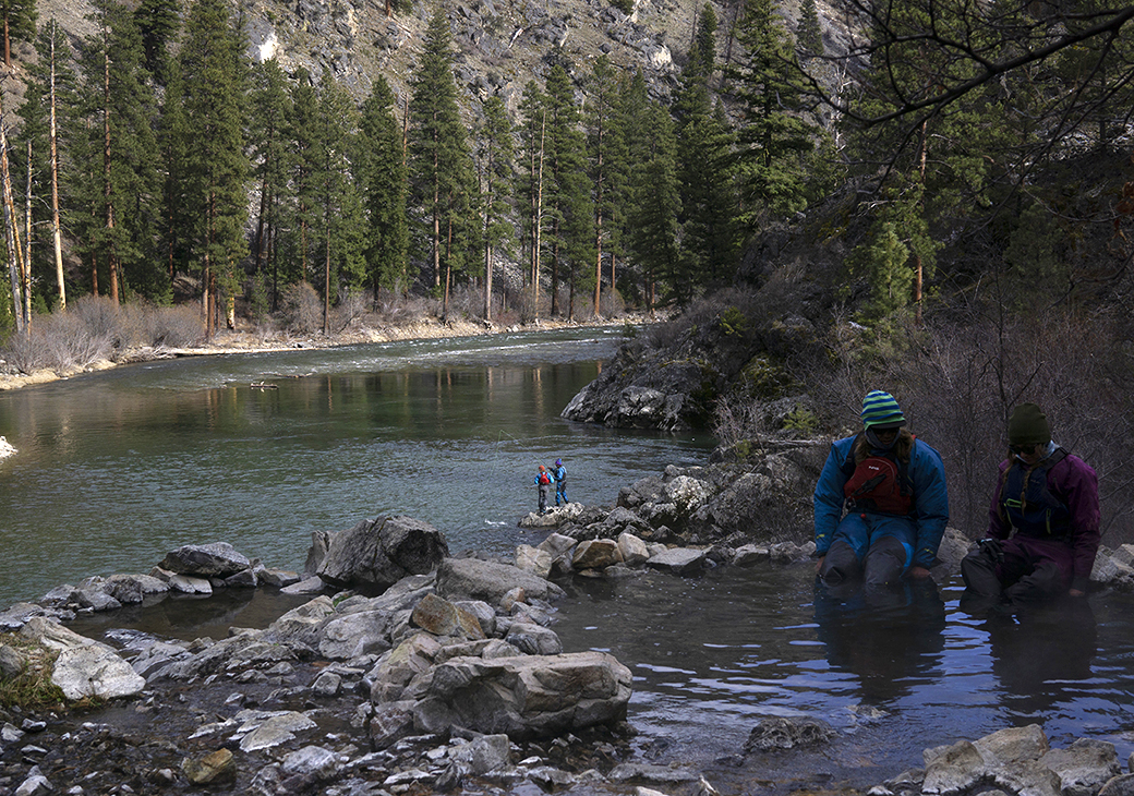 Soakin' and fishin' are just two of the many ways to spend your days on the Middle Fork.