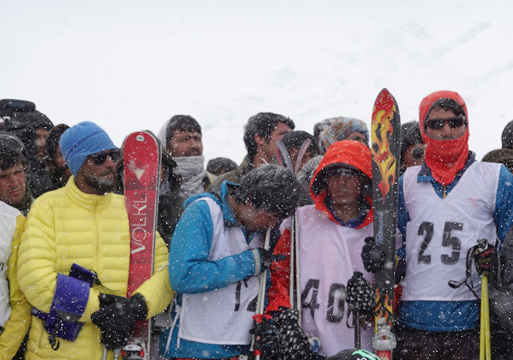 Some of the local skiiers in Afghanistan getting ready to enjoy their home mountain.