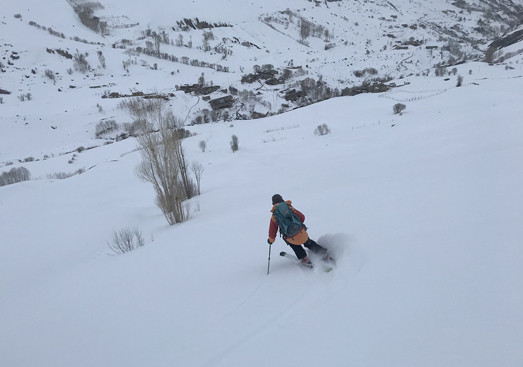 Heading back to town after a Middle East powder day - or maybe right back up for another run.